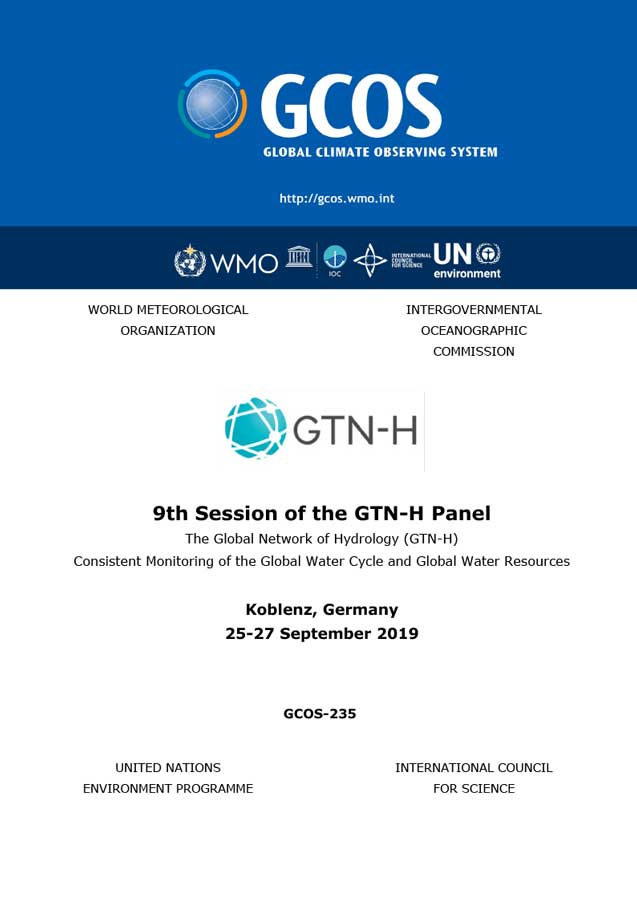 9th Session of the GTN-H Panel - Cover
